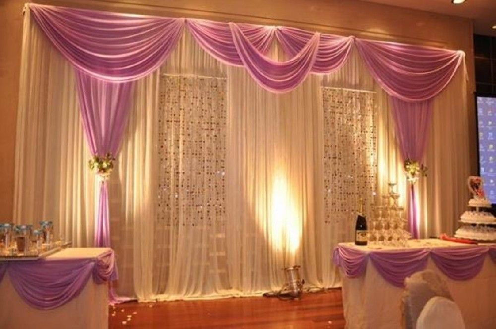 Wedding Pipe And Drape Curtains Diy Highlight The Atmosphere