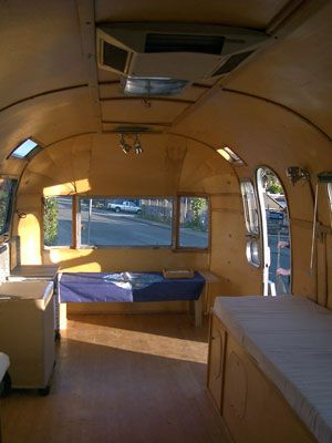 Bare Trailer Airstream Renovation Airstream Interior Adventure Trailers