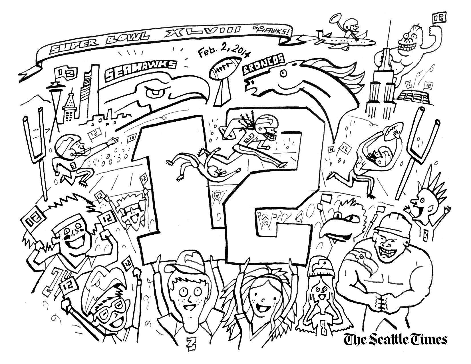 Marshawn Lynch Coloring Pages