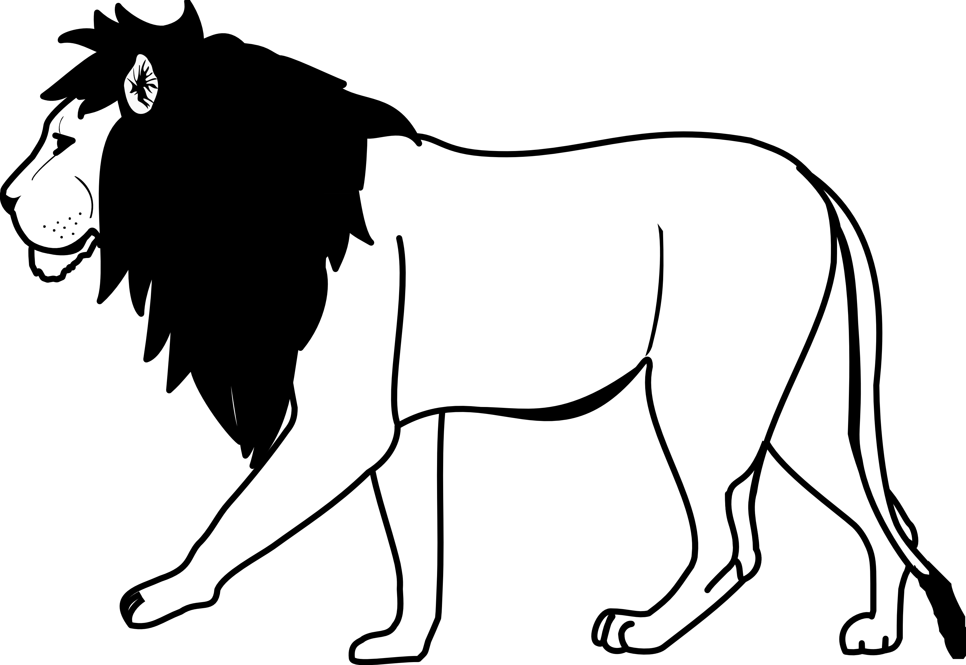 Lion Line Drawing Clipart Library Black And White Drawing Drawings Black And White