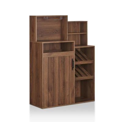 Furniture Of America Manakara Distressed Walnut Baker S Rack With
