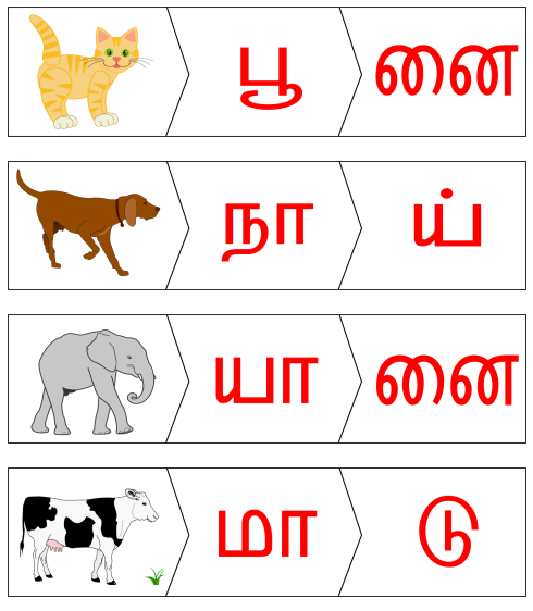 Puzzle - விலங்கு பெயர் - 2 எழுத்து Keywords:playingtots,playing  Tots,playing,tots,tot,free,printable,pla… Toddler Preschool, School  Worksheets, Teacher Activities