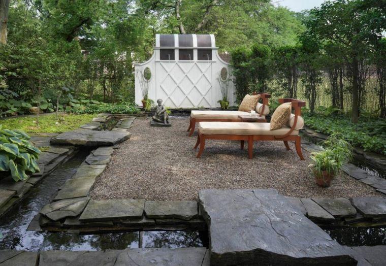 Bassin d\u0027eau dans le jardin  85 idées pour s\u0027inspirer Pond - terrasse bois avec bassin