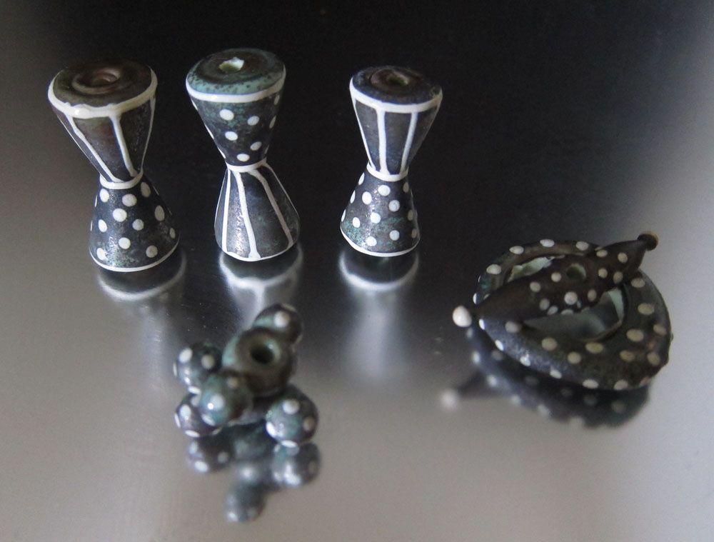 Lampwork beads made by Patricia Larsen