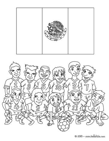 Soccer Teams Coloring Pages Team Of Mexico Sports Coloring Pages Flag Coloring Pages Coloring Pages