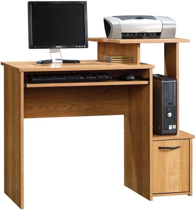 Beginnings Home Office Computer Desk Highland Oak 414163 Sauder Furniture Home Office Computer Desk Computer Table Design Computer Desk
