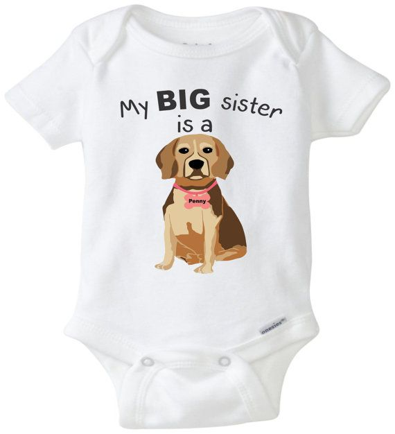 My Big Sister Is A Beagle A Perfect Baby Shower Gift For A Dog