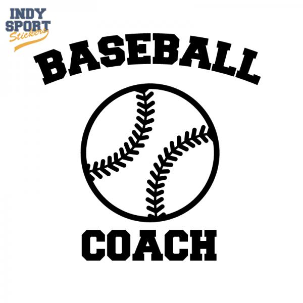 Baseball Coach Text With Silhouette Ball Car Stickers And Decals Softball Decals Softball Sticker Softball