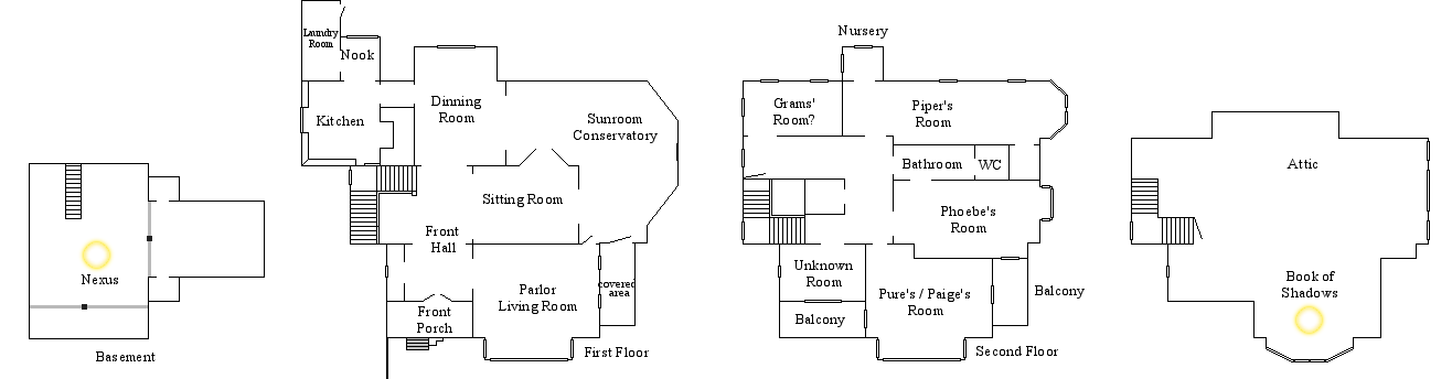 Halliwell Manor Floor Plan by Notsalony on DeviantArt