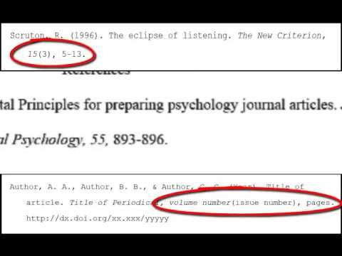 Video On How To Cite A Reference For A Magazine Journal Article In Apa Style Https Www Youtube Com Wa Psychology Journals Citing References Research Paper