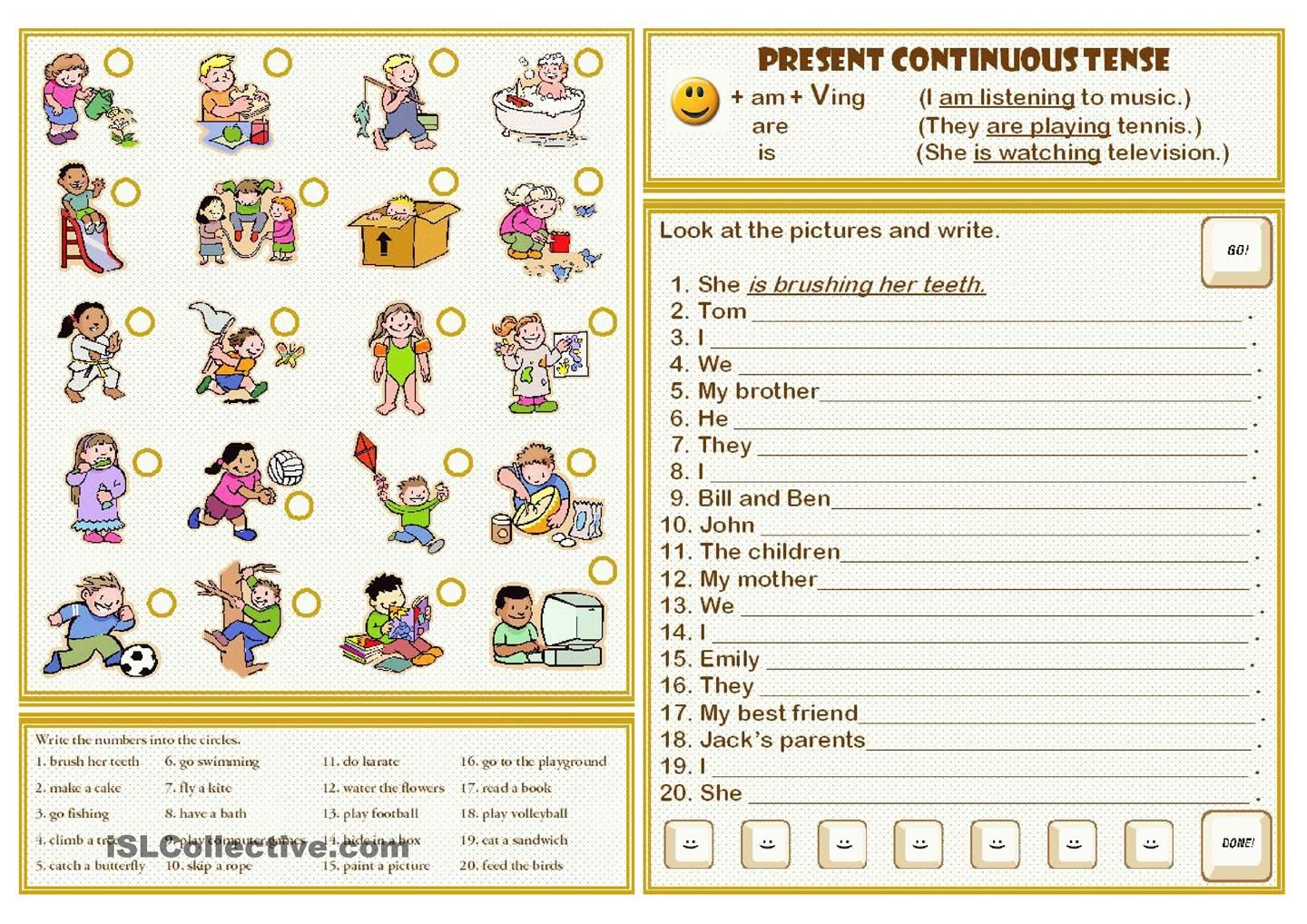 small resolution of PRESENT CONTINUOUS TENSE   Present continuous tense
