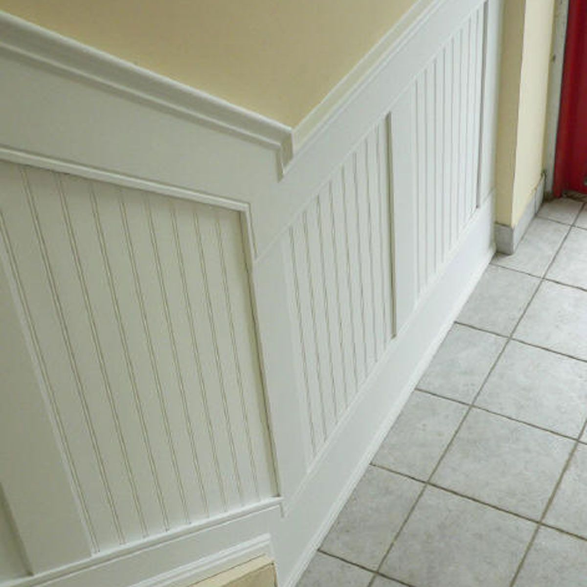 Wainscoting Ideas Dining Room: 94-Inch L, Adjustable Height Beadboard Panel Stair