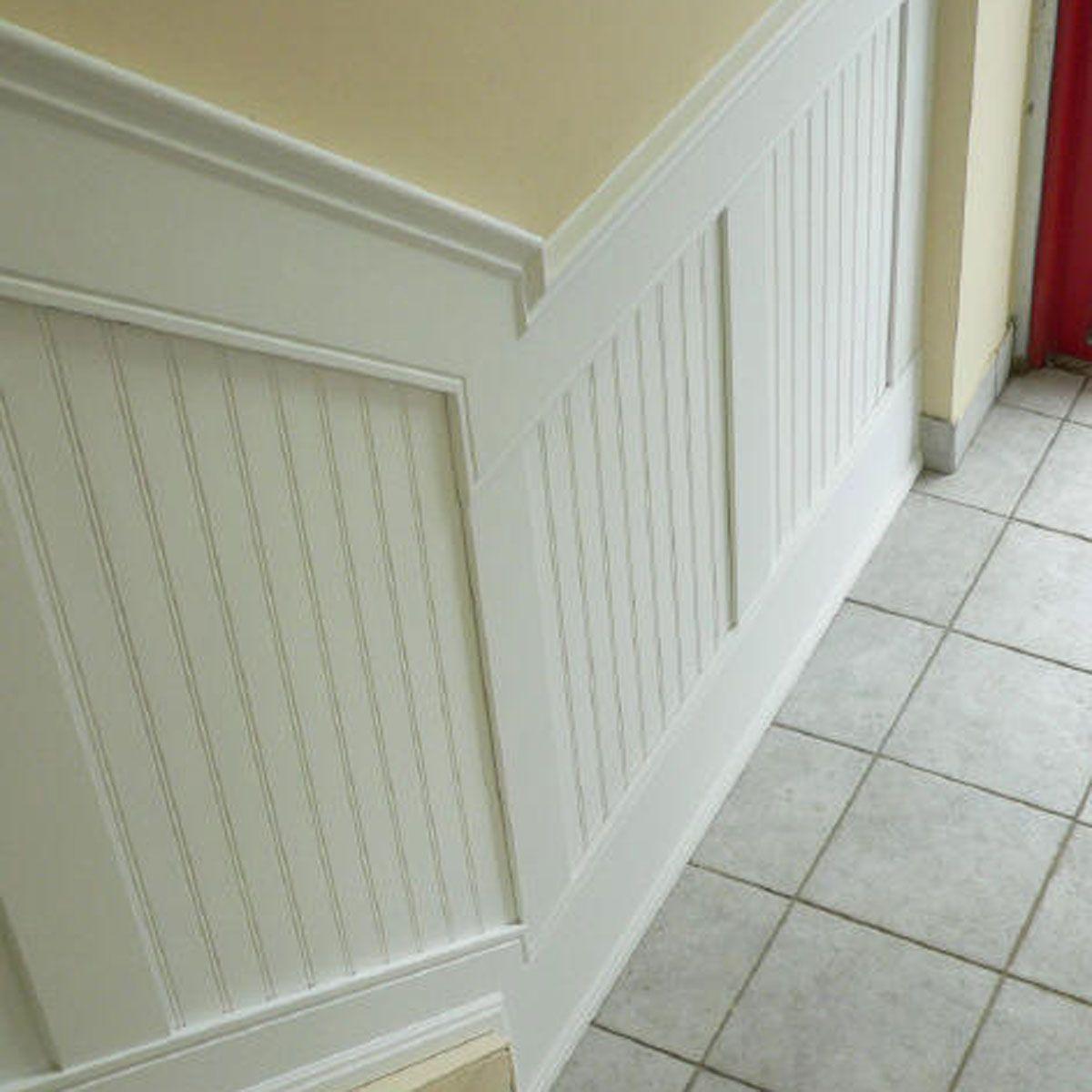 Di diy wainscoting dining room - 96 L Adjustable Height Beadboard Panel Stair Wainscoting Kit
