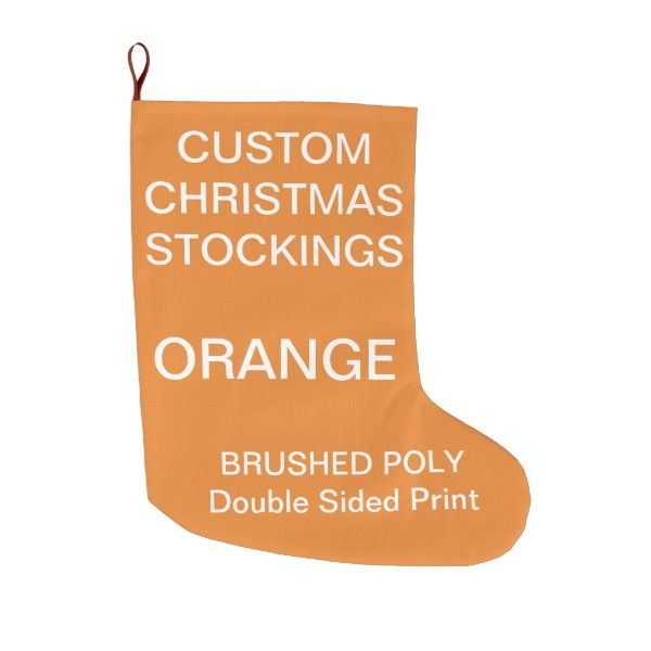Custom Large ORANGE Polyester Christmas Stocking #stocking ...