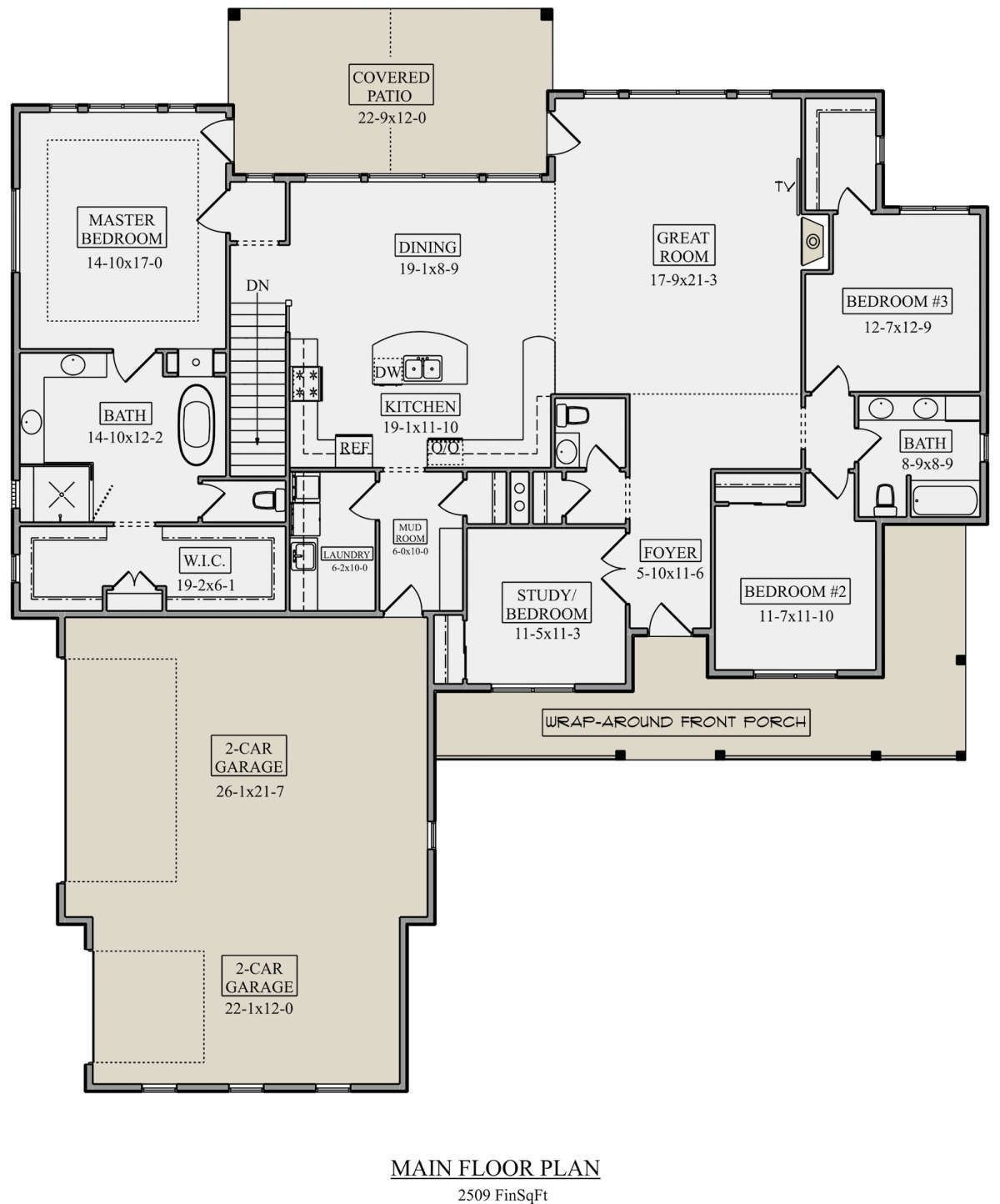 House Plan 5631 00109 Ranch Plan 2 509 Square Feet 3 5 Bedrooms 2 5 Bathrooms Diy Home Decor In 2020 House Plans Square House Plans Ranch House Plans