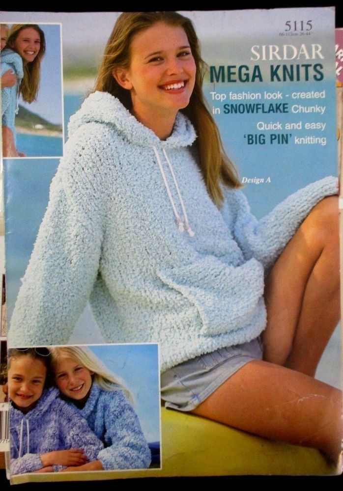 Sirdar Knitting Pattern Leaflet Ladys Mega Knits No5115 Snowflake