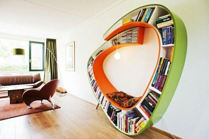 kreative buecherregale wie einen sitzbank grosse wohnzimmer