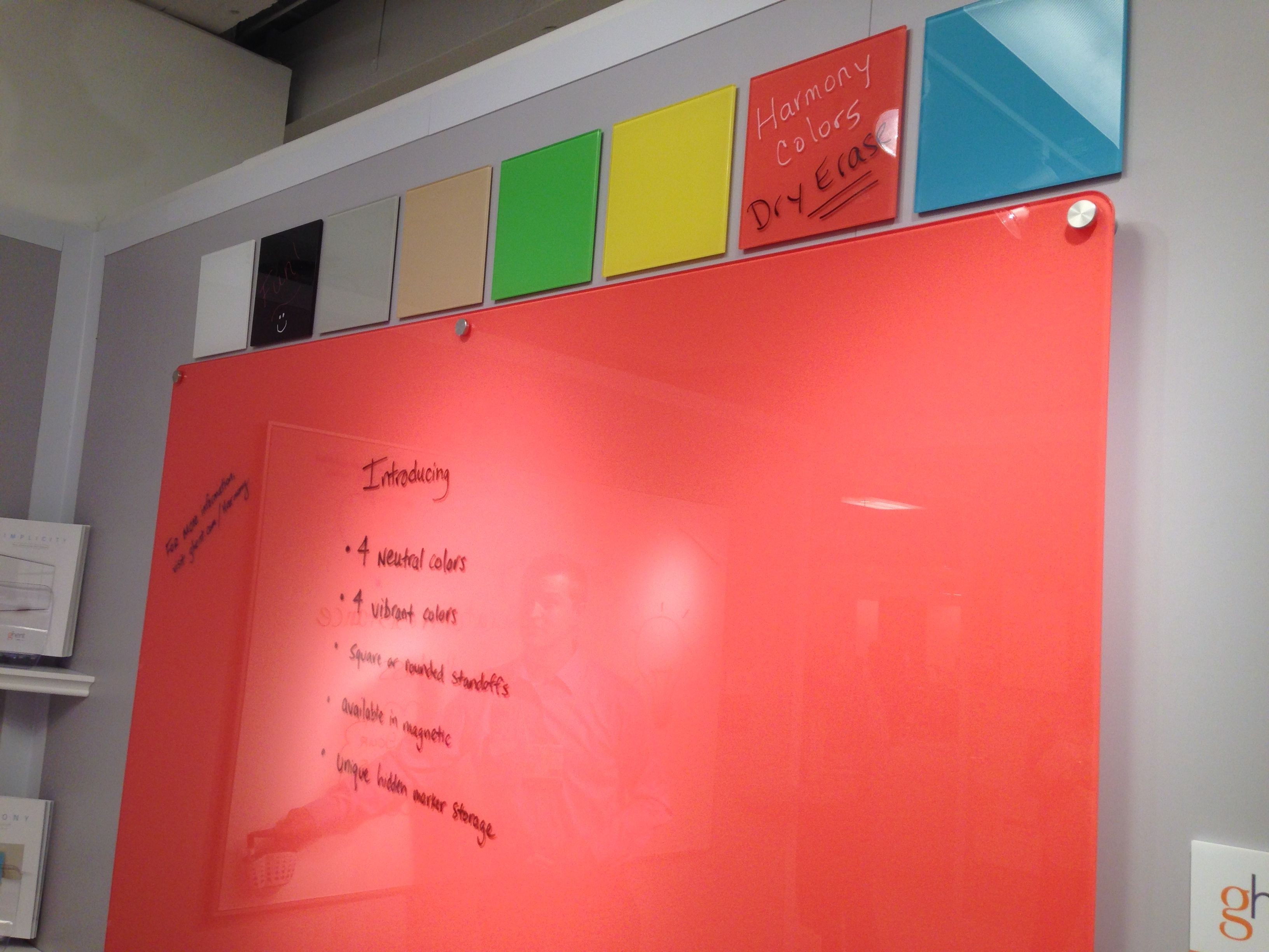 A Back Painted Glass Marker Board Color Line For Ghent In 2014 By