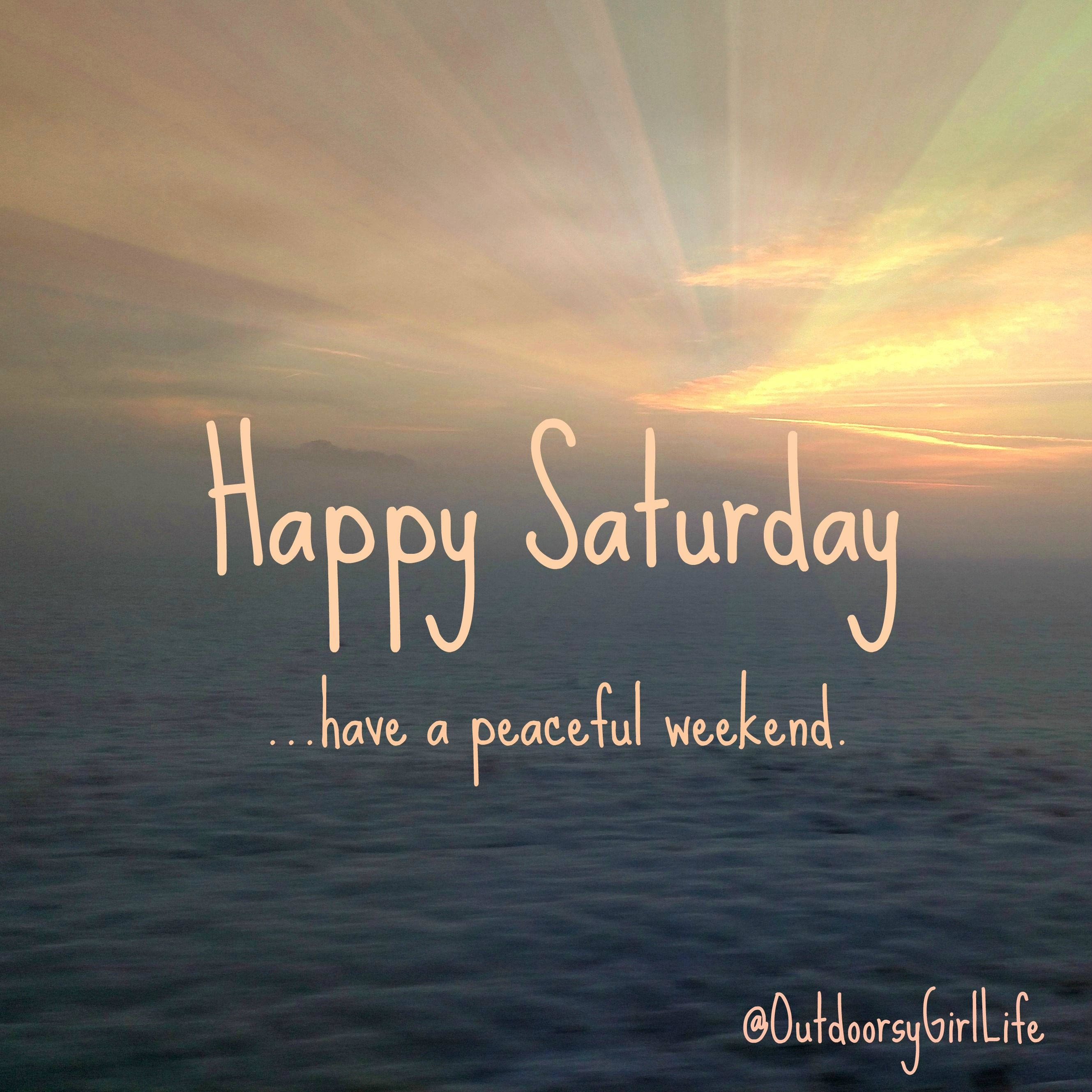Positive Saturday Morning Quotes: Weekend Quotes: Happy Saturday (with Snow And Sun). Follow