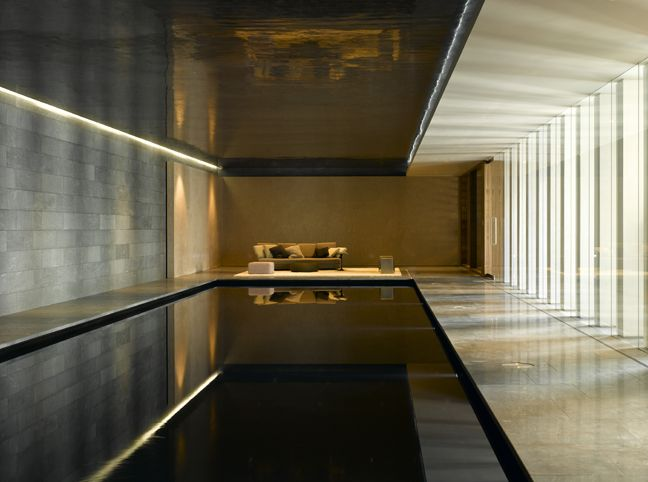 Spink Property - completely in love with this, the contrast in materials, colours, the reflection / lighting is stunning. Simple yet elegant.