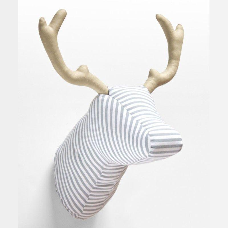 Cabeza ciervo tela peque a monsters more pinterest - Patrones de cabezas de animales de tela ...