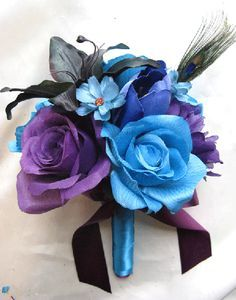 Our Birth Stone Color Wedding 3 On Pinterest Royal Purple Weddingblue Bouquetspurple