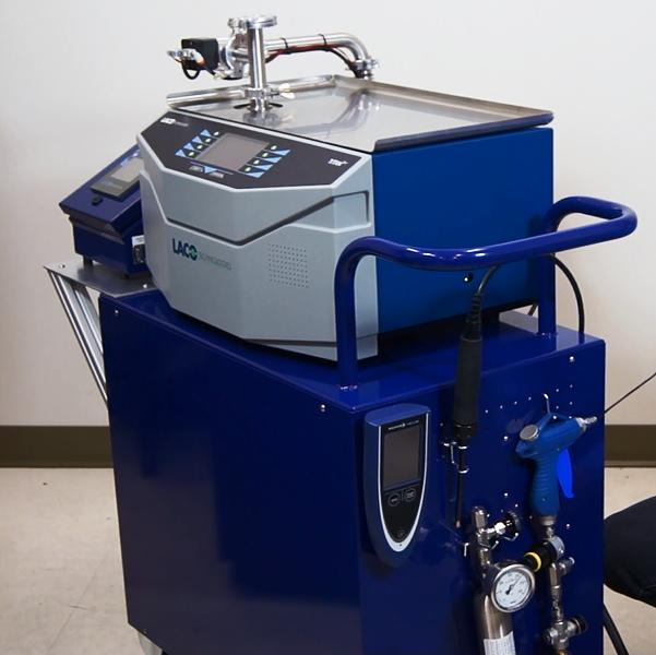 TitanTest leak detector with accessories. Remote, helium
