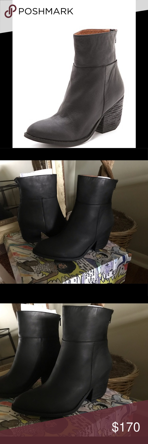 Jeffrey Campbell Shoes | Jeffrey Campbell Leather Ankle Boot | Color: Black | Size: Various #skinnyjeansandankleboots Jeffrey Campbell Leather Ankle Boot Jeffrey Campbell Black Calf Leather Ankle Boot w/back zip.  Brand new w/box.  No trades. True to size.  ** looks great with skinny jeans** Jeffrey Campbell Shoes Ankle Boots & Booties #skinnyjeansandankleboots Jeffrey Campbell Shoes | Jeffrey Campbell Leather Ankle Boot | Color: Black | Size: Various #skinnyjeansandankleboots Jeffrey Campbell L #skinnyjeansandankleboots