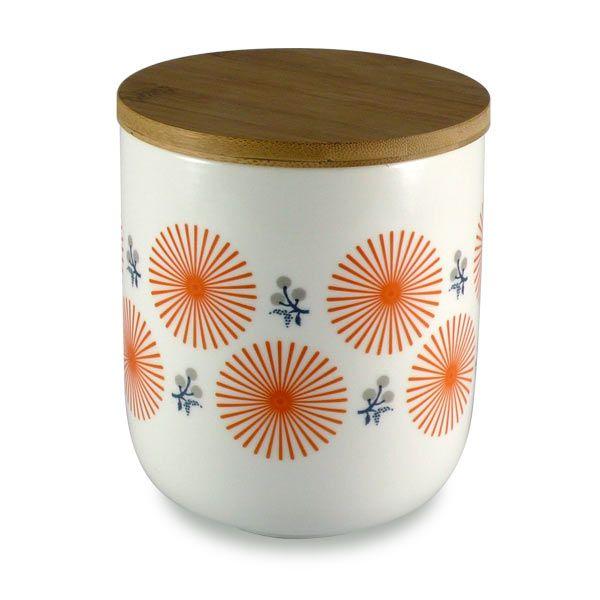 Pot en porcelaine Mr & Mrs Clynk - Fleur orange