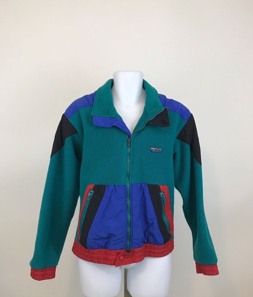 Details about vintage eddie bauer mens fleece jacket size l s