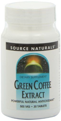 Source Naturals Green Coffee Extract, 30 Tablets by Source Naturals. $3.09. Source Naturals Green Coffee Extract (GCA(R)) is a powerful antioxidant that helps protect against oxidative stress caused by free radicals-a major cause of accelerated aging. Derived from raw, unroasted coffee beans and naturally low in caffeine, green coffee extract has been shown in research to support normal cellular regeneration and growth. Green coffee extract is high in chlorogenic and ca...