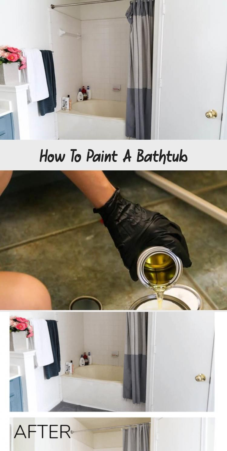 How To Paint Your Bathtub Using Rust Oleum S Tub Tile