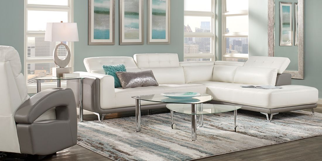 Hudson Heights White 2 Pc Sectional Rooms To Go In 2020 Living Room Sets Furniture Furniture Rooms To Go Furniture