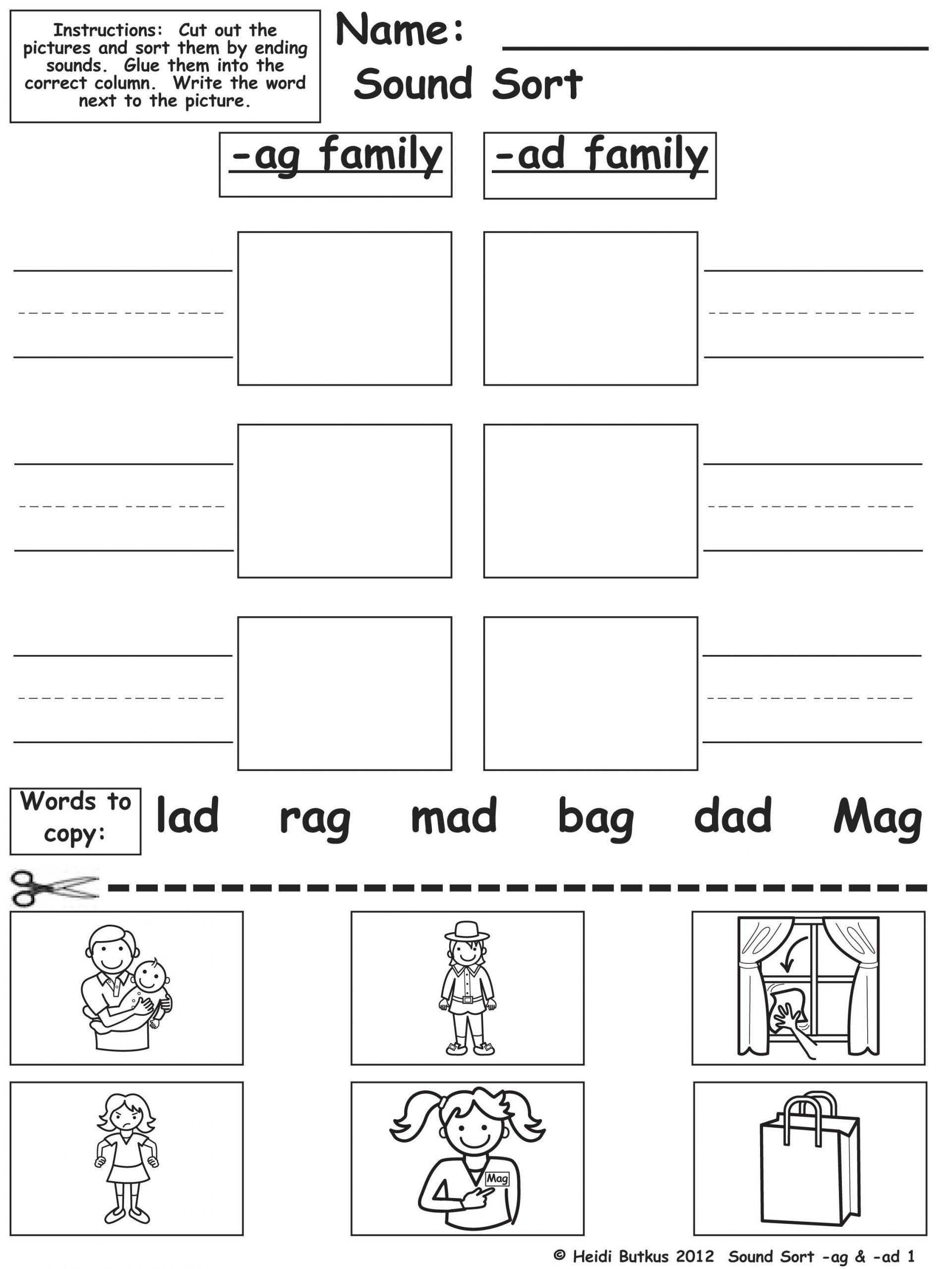 Kindergarten Un Word Family Worksheets For Kindergarten