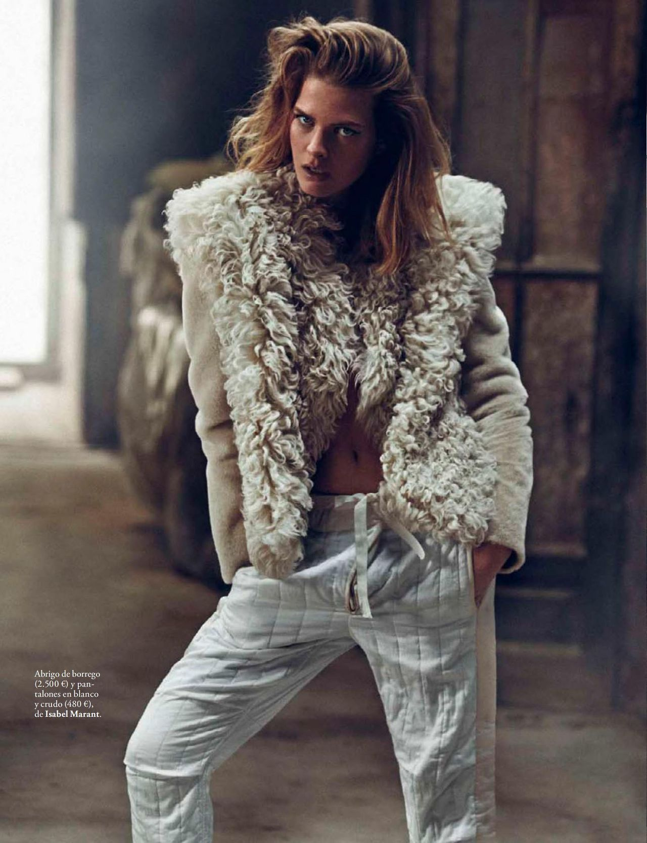 "Michaela Hlavackova in ""Le Smoking"" for Elle Spain, December 2014 by Xavi Gordo   via the Fashion Spot"