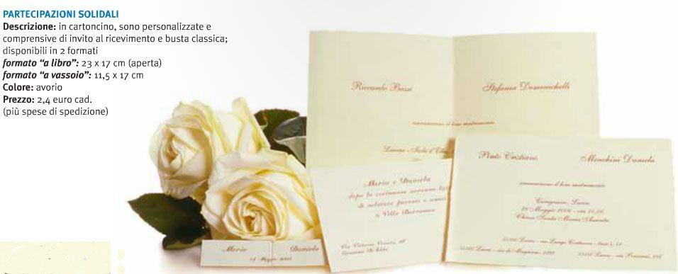 Partecipazioni Matrimonio Per Amici.Partecipazioni Solidali Cartoncini Ringraziamenti