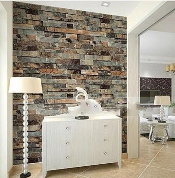Modern Stone Brick 3d Wallpaper Dining Room,Kitchen,Bathroom,Office  Background Wall Wallpaper