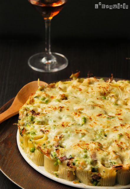 Pasta rellena de guisantes y calabacín con salsa de Taleggio | L'Exquisit