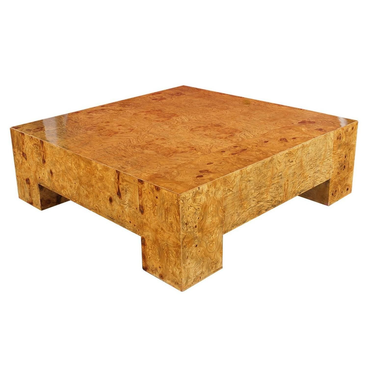 Burl Wood Coffee Table by Milo Baughman For Sale at 1stdibs