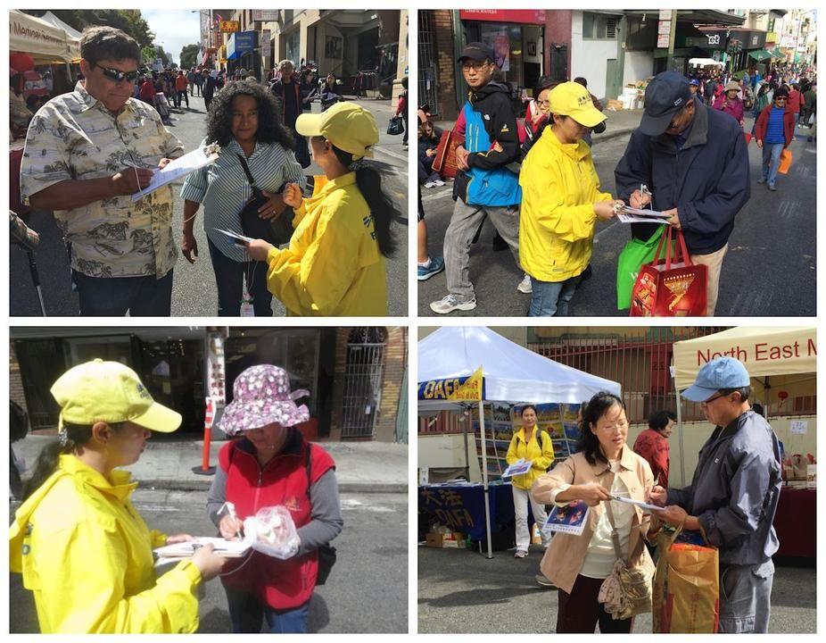 Falun Gong Wins Support at MidAutumn Street Fair in San