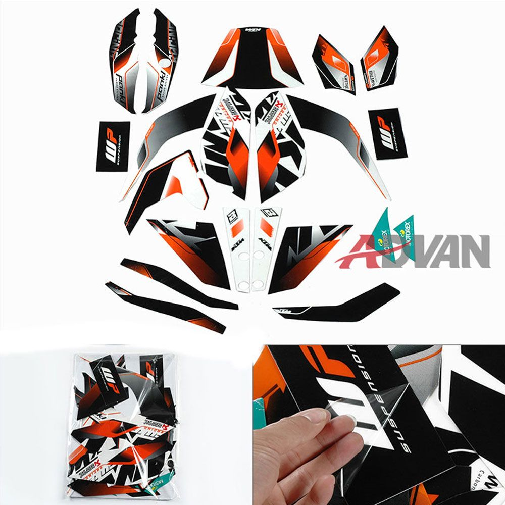 FIT For KTM DUKE FREE SHIPPING Full Custom Decals - Custom graphic vinyl decals for motorcycle helmets