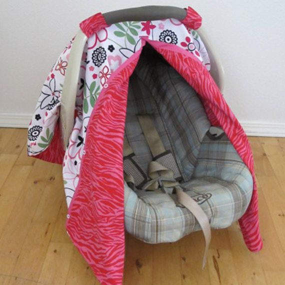 Infant Car Seat Cover PDF Pattern Sew your own por TurnbowDesigns ...