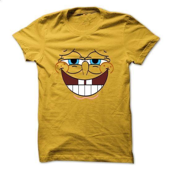 Cool Spongebob Face Art Yellow tshirt - cheap t shirts #shirt girl ...