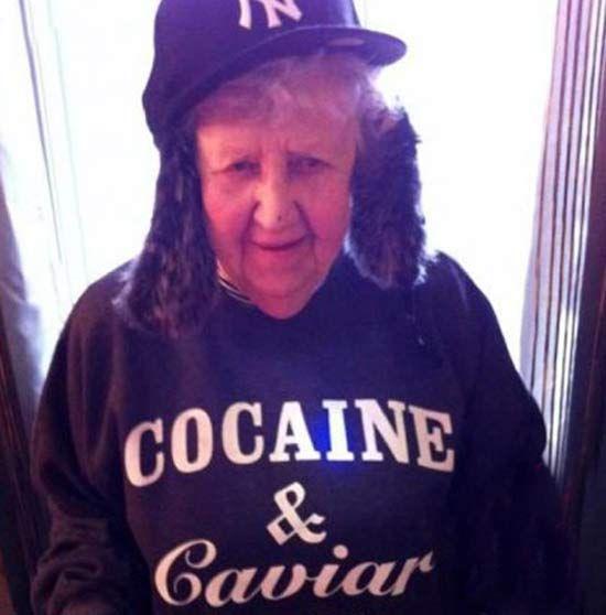 Grandma on Cocaine & Caviar Shirt ~ Awesome Old People