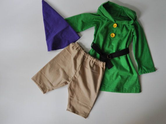 202a426ac92 Gnome   Dwarf costume for children including tunic top