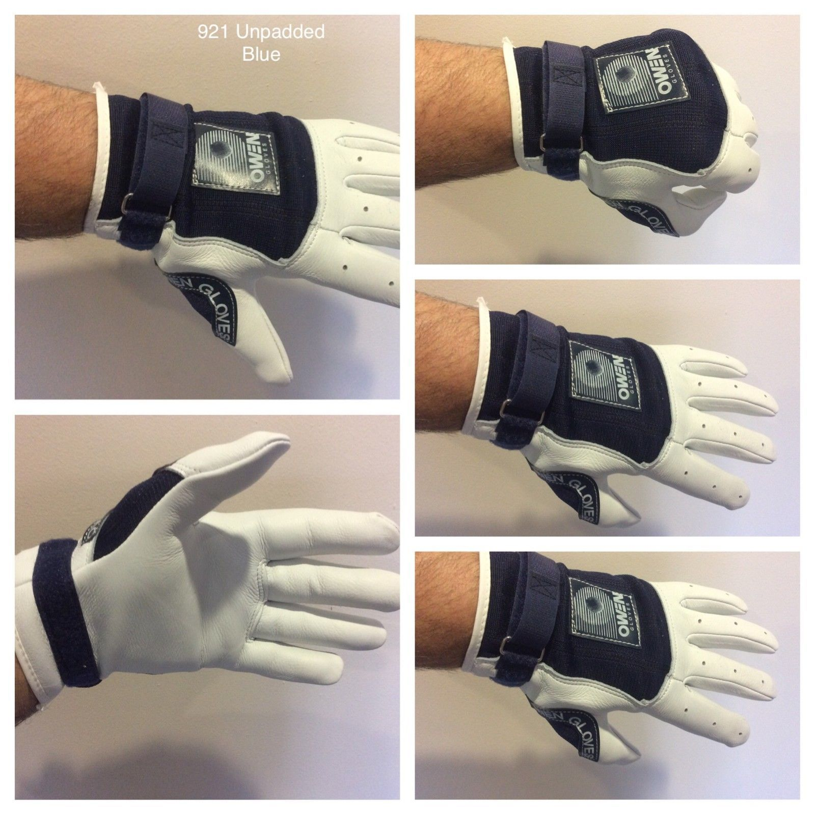 Owen Handball Gloves Style# 922 White//White New