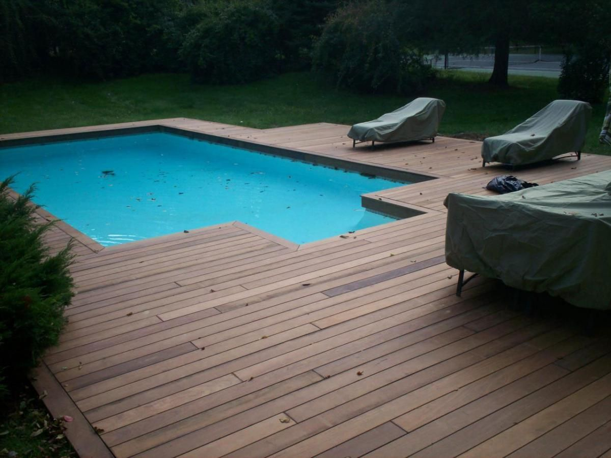 Ipe Decking For An Underground Pool Created By The Guys At Decks R Us Deck Patio Love Wood Pool Deck Wooden Pool Deck Decks Around Pools