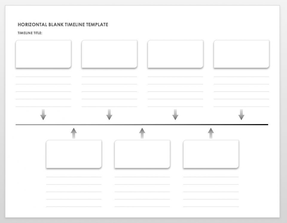 Blank timelines are useful for teachers doing school projects with