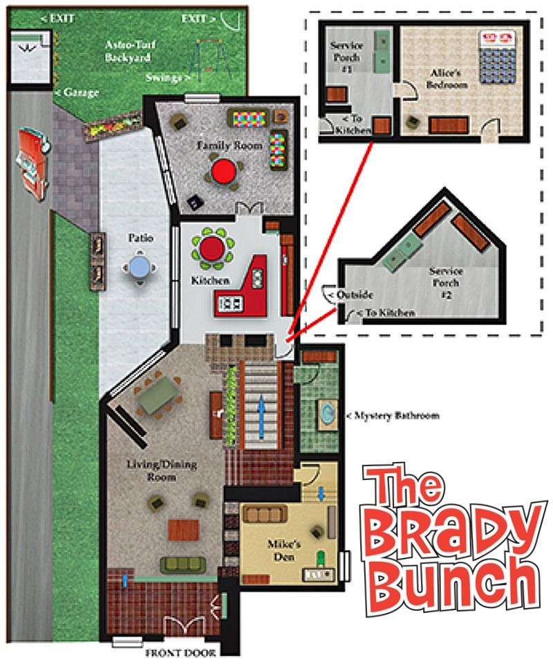 The Brady Bunch House Through The Years Hooked On Houses The Brady Bunch House Flooring Brady