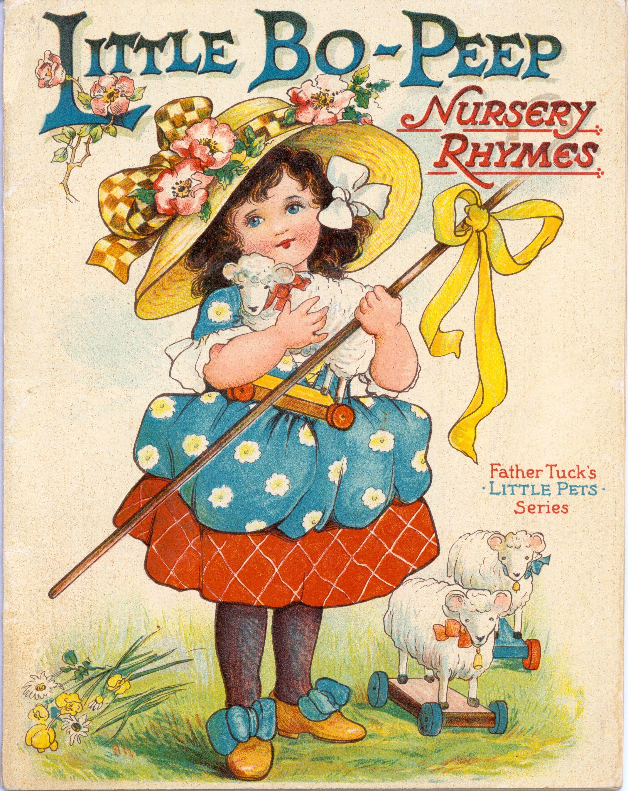 Antique Book Little Bo Peep Nursey Rhymes Raphael Tuck